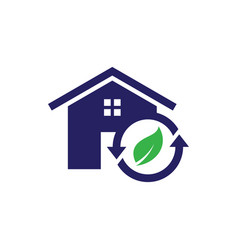 Recycle home icon vector