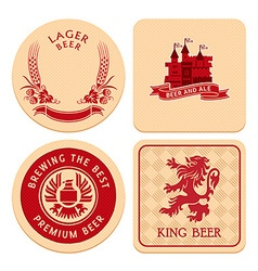 Retro beer coasters vector