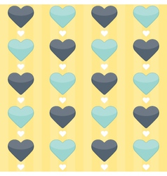 seamless pattern with blue and mint hearts vector image