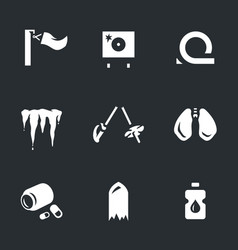 Set of biathlon fail icons vector