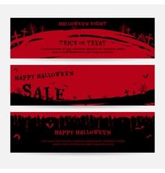 Set of happy Halloween banner background vector