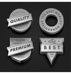 Set premium quality and guarantee labels vector image
