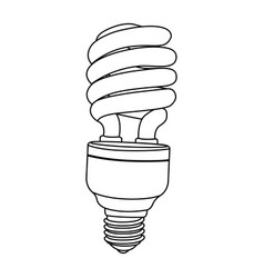 silhouette modern light bulb icon design vector image