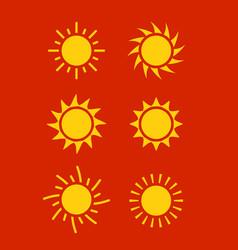 sun icon symbol sunlight design vector image