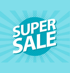 super sale vintage retro poster design template vector image