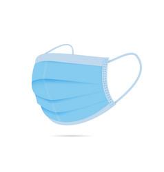 Surgical face mask icon design vector