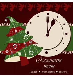 Template of a christmas menu vector