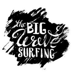 The Big Wave Surfing vector image