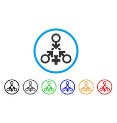 triple penetration sex rounded icon vector image