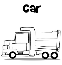 truck hand draw vector image