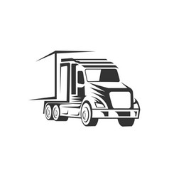 truck logistic silhouette logo template perfect vector image