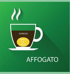 type of coffee affogato coffee vector image