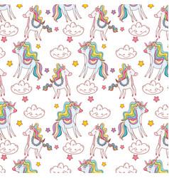 unicorns pattern background vector image