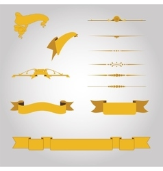 Vintage set design elements vector image