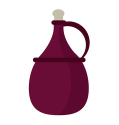 wine carafe cork icon vector image