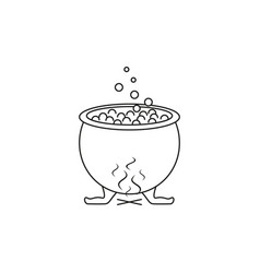 witches boiler of the icon of helloween vector image