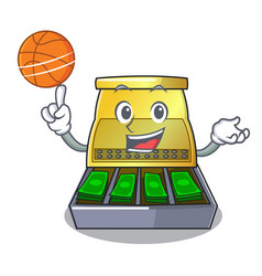 With basketball electronic cash register isolated vector