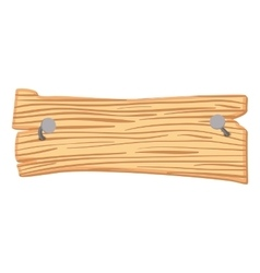 Wooden cartoon sign vector