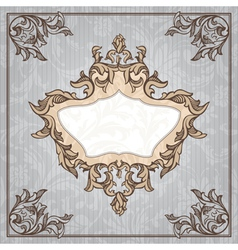 abstract retro vintage floral frame vector image