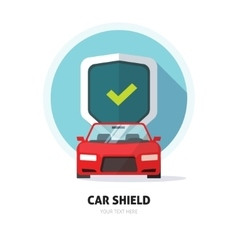 Car guard shield sign collision insurance logo vector image