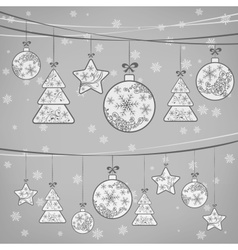 Christmas ornament decoration vector image vector image