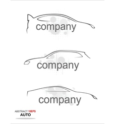 Contour of a modern sports car on a white backgrou vector image