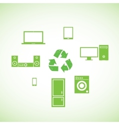 Ecology and Electronics vector image