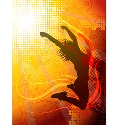 Jumping Girl Background vector image vector image