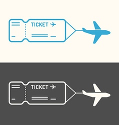 Linear image of the ticket vector image vector image
