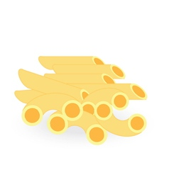 Macaroni isolated on white background vector