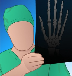 doctor with xray vector image vector image