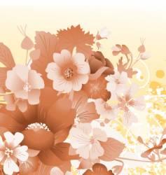 grunge floral composition vector image
