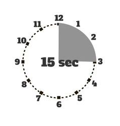 Set of Time Second Stopwatch Design Flat vector image vector image