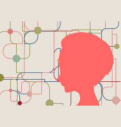 Silhouette of a womans head vector