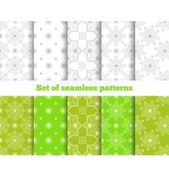 Geometrical seamless pattern Gray green tile vector image vector image