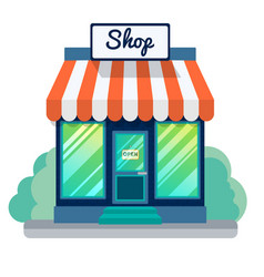 opened store icon vector image