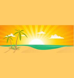 summer exotic beach landscape banner vector image vector image