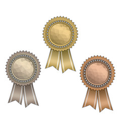 awards with ribbons vector image