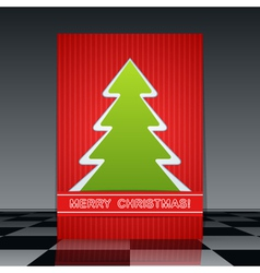Christmas flyer vector image vector image