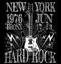Cool grunge hand drawn electric guitar with vector