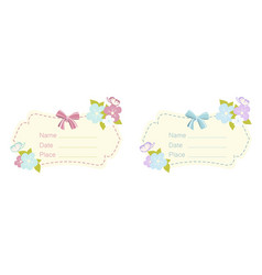 set of babe shower card vector image