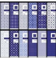 set of geometric seamless patterns vector image
