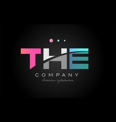 the t h e three letter logo icon design vector image vector image