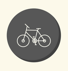 two-wheeled bicycle round icon with the vector image vector image