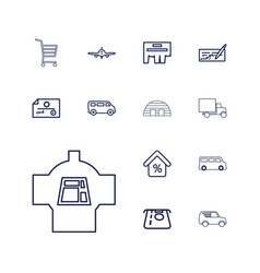 13 commercial icons vector