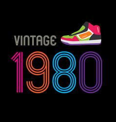 1980 vintage retro design background vector