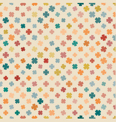 Abstract pattern clover pale vector