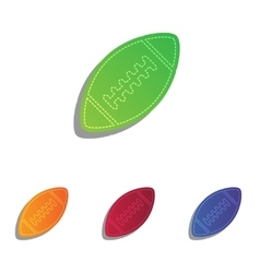 American simple football ball colorful applique vector