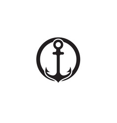 Anchor logo and symbol template icons app vector