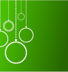 Background with abstract Christmas balls vector image
